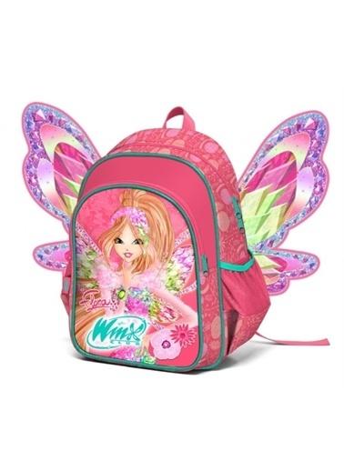 Winx Winx Flora Kanatlı Okul Çantası-Nar Çiçeği (Yaygan 63293) Oranj
